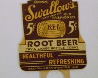Early Swallows Root Beer Bottle Topper