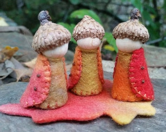Autumn Gnomes (set of three)