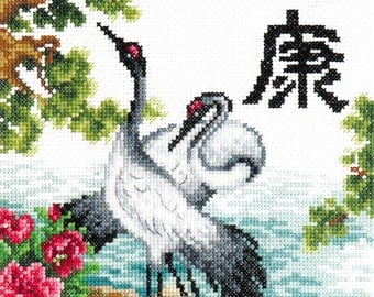 Cross stitch kit Health  (crane)