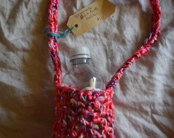 Crocheted Water Bottle Holders.