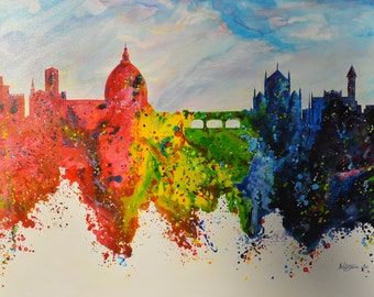 Art Gallery / Modern Art / Florence / Contemporany Art / Acrilic painting / by  Noldin