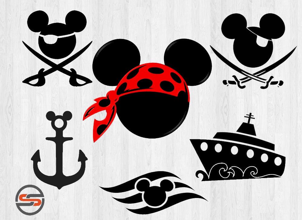 Pirate Mickey Svg Dxf Disney Cruise Anchor Ship Disney
