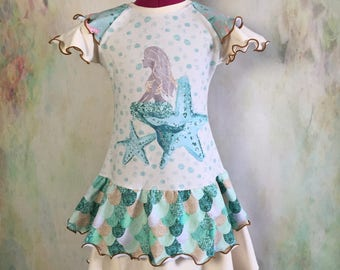 Mermaid Kisses Double Skirted Dress/Tunic