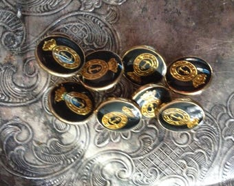 Set of Eight Anchor Buttons