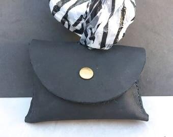 The Black Leather Bag Holder