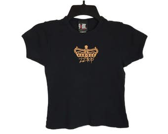 Vintage 90's ZZ Top Crown Babydoll Black T-Shirt X-Small Free Shipping!