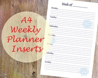 A4 Weekly Planner, Christmas Weekly Planner Printable, Winter Planner, Organizer Planner, PDF, INSTANT DOWNLOAD