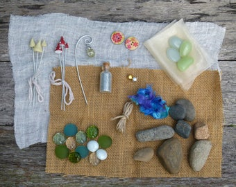 Fairy Treasures Garden Kit, Gift Box of Fairy Accessories, Fairy DIY Materials