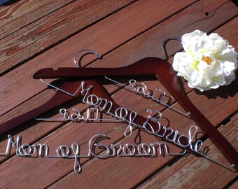 HUGE SALE/Set of 2 Wedding Hangers/Mother of the Bride and Mother of the Groom/Personalized Hangers/Bridal hanger/ Bride / Weddings