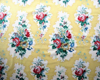Vintage floral fabric remnant Asquith by Ramm fabric 51 x 71""