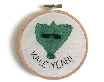 Kale Yeah Embroidery