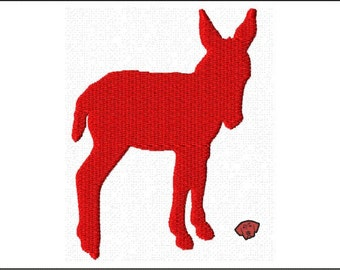 Donkey Silhouette Mini Embroidery Designs in 5 sizes