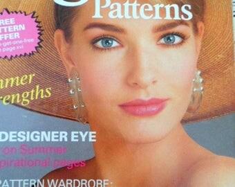Vintage Vogue Patterns magazine, Summer 1987.