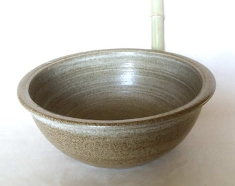 2nd choice / grey beige washbasin Ø 32 cm H 12 cm