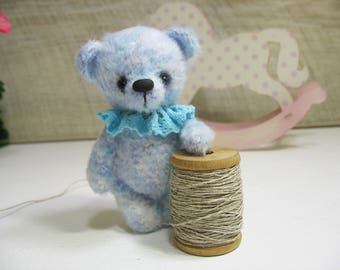 Miniature crocheted Bear Tim, crocheted toy