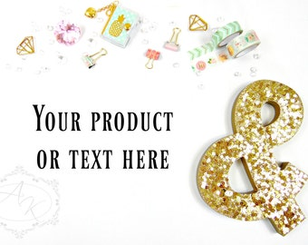 Desktop Styled Stock Photos, Washi Tape Stock Photography, Digital Images, Product Mockup, Small Business Stock Photos