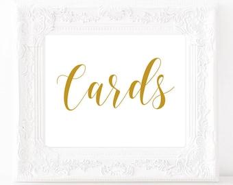Wedding card sign Cards sign wedding Bridal shower card box signs Baby shower card box signs Gold and white wedding Gold card box sign #vm22