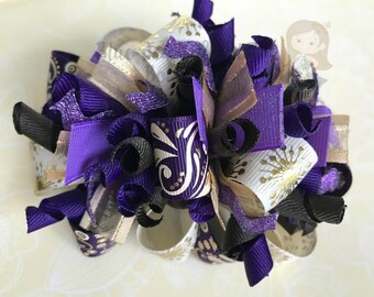 For the Love of Purple Funky Loop Bow