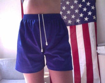 Blue sport shorts boyfriend fit, vintage 90s