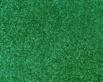 Fine Glitter Fabric Material - 20cm x 30cm sheet - Emerald
