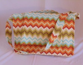 Colorful Zig-Zag Messenger Bag