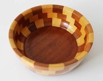 1960s wooden fruit bowl - 'Barrington' by Cambridge Ware