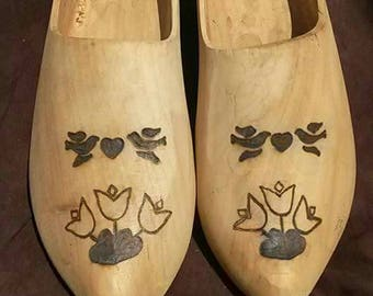 Wooden clogs - appx size 11