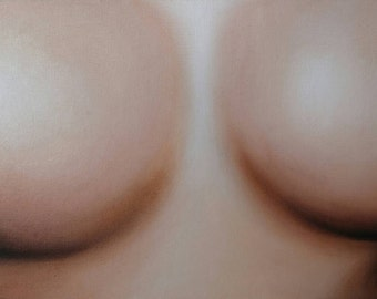 Breasts, from María Mediodía original oil painting