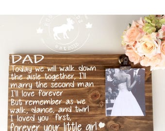 Father of the Bride Wood Sign // Father of the Bride // Father of the Bride gift // Wedding gift // Wedding poem // Wedding picture frame
