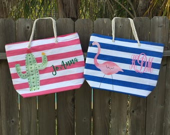 Monogram Beach Bag, Monogram Bag, Personalized Beach Bag