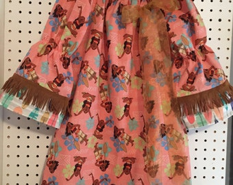 Moana dress - girls size 6