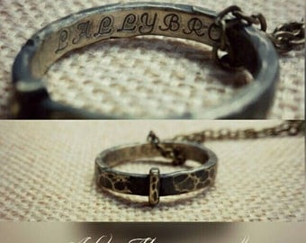 Claire ring with engraving * etching Brass Ring Claire with Scotland Highlands