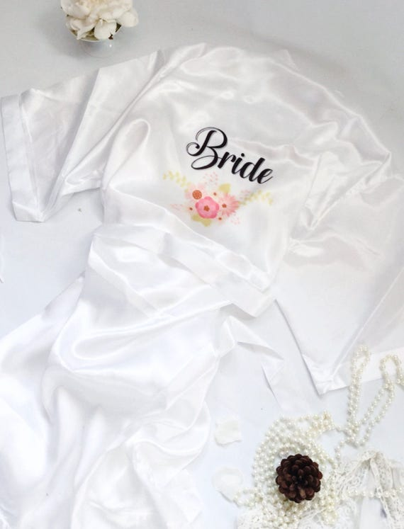 Brides\' dressing gown WITH bridal slippers GIFT SET