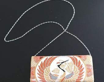 Vintage Japanese kimono Obi evening bag
