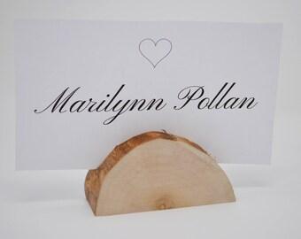 Set of 50 Rustic Wedding Cottonwood Log Card Holders