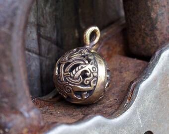 Viking Bowl with a lion Scandinavia Celtic jewelry Viking jewelry Viking pendant