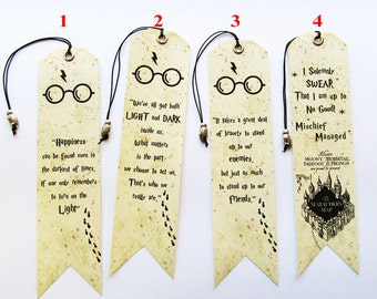 Bookmarks 4 to choose from with owl bead Gift for bookworm