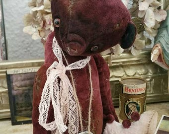One of a kind! SWEET shabby Teddy, artist-Teddy