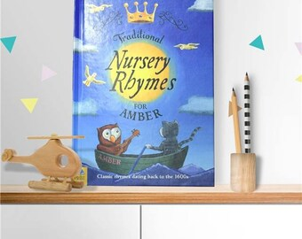 Personalised Traditional Nursery Rhymes Book softback