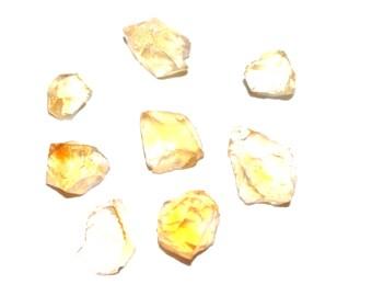 18.9cts Natural Citrine Point 8 Pieces, Raw Citrine Point Lot, Rough Orange Quartz Crystal Stone, Natural Gemstone, Citrine Crystal BM300