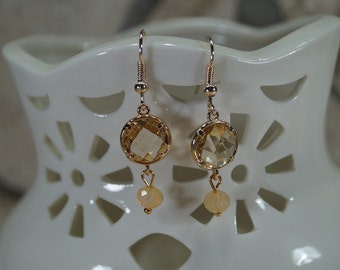 "Earrings ""Elegant miracle"" ochre"