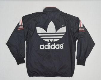 Vintage Adidas Trefoil 90's Windbreaker Jacket size M medium Hoodie thin lightweight sportswear originals
