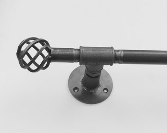 Steel Curtain Pole Any Size! | Steampunk / Industrial | HANDMADE in the UK!
