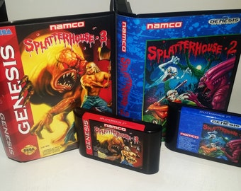SplatterHouse 2 and3 Combo pack for Sega Genesis