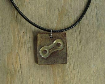 Bicycle Chain Necklace, Coffee - Perfect Gift for a Cyclist - Handmade with Ceramic Clay - Includes Chain or Cord - Made in NH, Jewelry