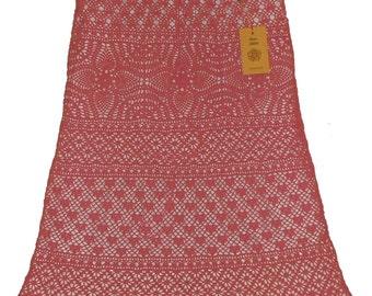 Openwork pink skirt