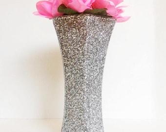 Glitter Wedding Centerpiece, Wedding Vase, Baptism Decor, Table Decor, Home Decor.