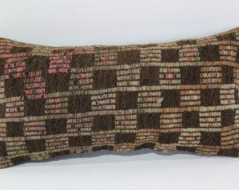 10x20 Embroidered Kilim Pillow Sofa Pillow 10x20 Decorative Kilim Pillow Home Decor Cushion Cover Lumbar Pillow Vintage Pillow SP3050-856