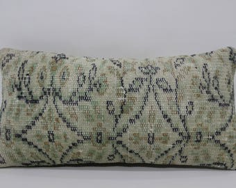 Turkish Carpet Pillow Boho Pillow Home Decor Ethnic Pillow Sofa Pillow 12x24 Turkish Kilim Pillow Floor Pillow Home Decor SP3060-795