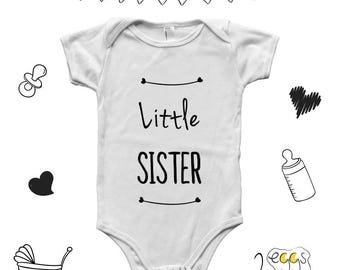Big sister little sister outfits, little sister onesie, Baby outfits, Infant clothing, Boy girl twins, Newborn baby clothes girl, baby
